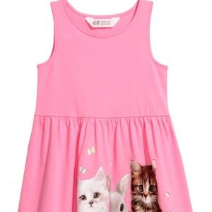 H&M Dresses - Girls H&M Kitty Cat Sun Dress 2-4 4-6 6-8 8-10 NWT